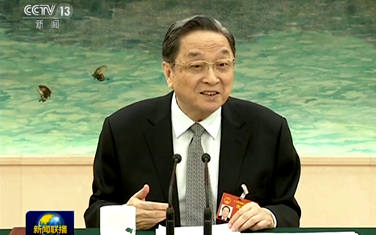 俞正聲參加臺灣代表團審議