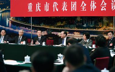 張高麗參加重慶代表團審議