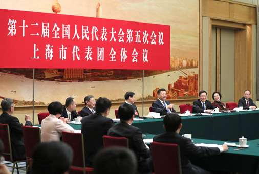 習近平3月5日參加上海代表團審議