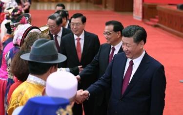 全國兩會少數民族代表委員茶話會在京舉行