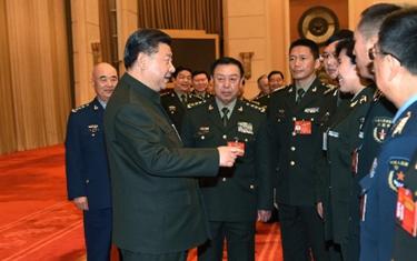習近平出席解放軍代表團全體會議
