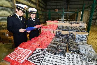 杭州海關查獲30余萬件侵權商標
