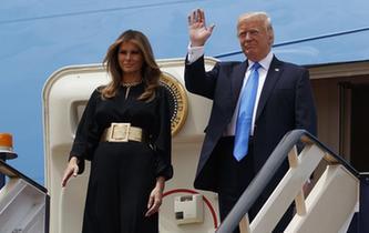特朗普抵達沙特開啟其首次出訪
