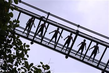 玻璃吊橋瑜伽秀