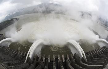 三峽大壩開閘騰庫