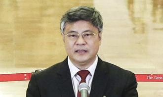 謝春濤代表接受採訪