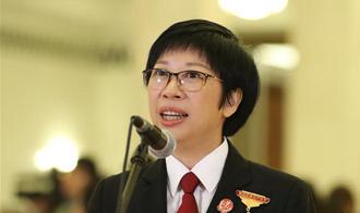 黃志麗代表接受採訪