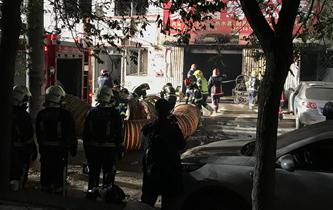 北京大興西紅門鎮新建村發生火災
