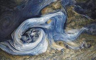 木星藍色風暴 宛如油畫般壯美