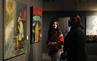 科威特展出阿拉伯画家访华采风作品