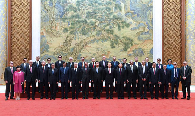 Xi meets executives of famous multinational companies