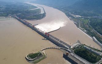 三峽大壩:洪峰過境