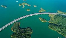 航拍江西最美水上公路 穿行千島顏值爆表
