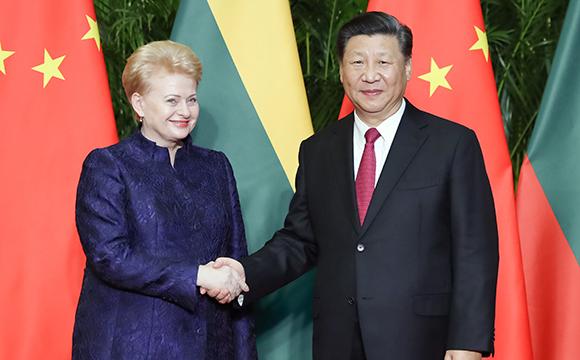 习近平会见立陶宛总统格里包斯凯特