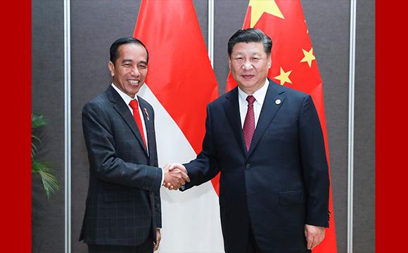 习近平会见印度尼西亚总统佐科