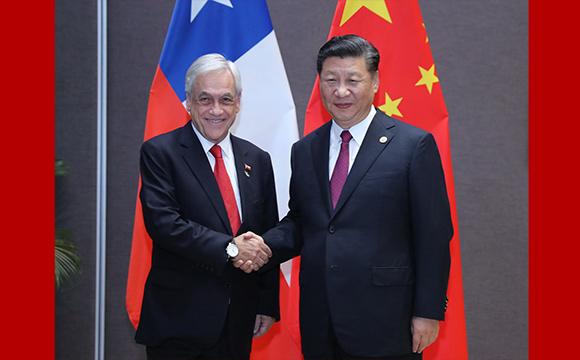 习近平会见智利总统皮涅拉