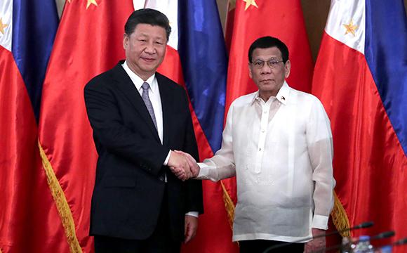 习近平同菲律宾总统杜特尔特举行会谈