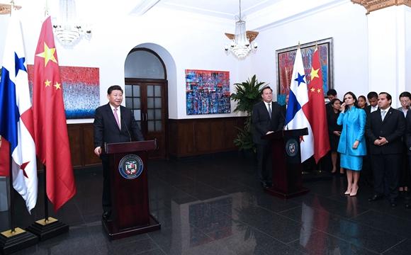 习近平和巴拿马总统巴雷拉共同会见双方企业家代表