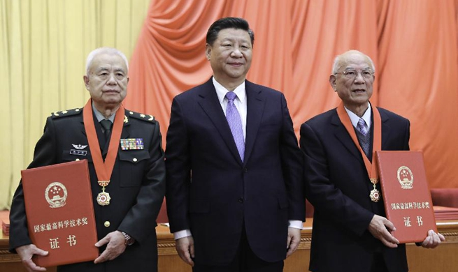Xinhua Headlines: China honors distinguished scientists