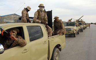 利比亞安全人員在武裝衝突後加強巡邏