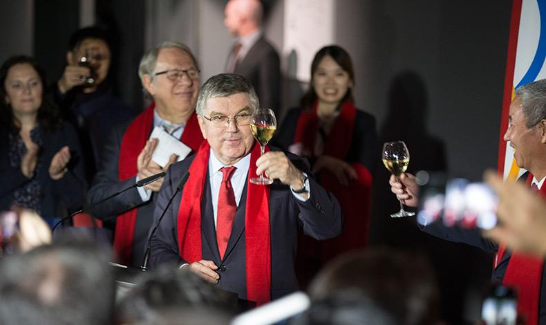 國際奧委會主席向中國人民拜年
