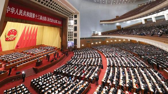 習近平出席十三屆全國人大二次會議第二次全體會議
