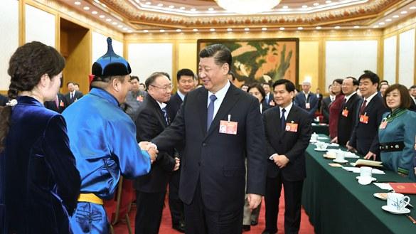 習近平參加內蒙古代表團審議