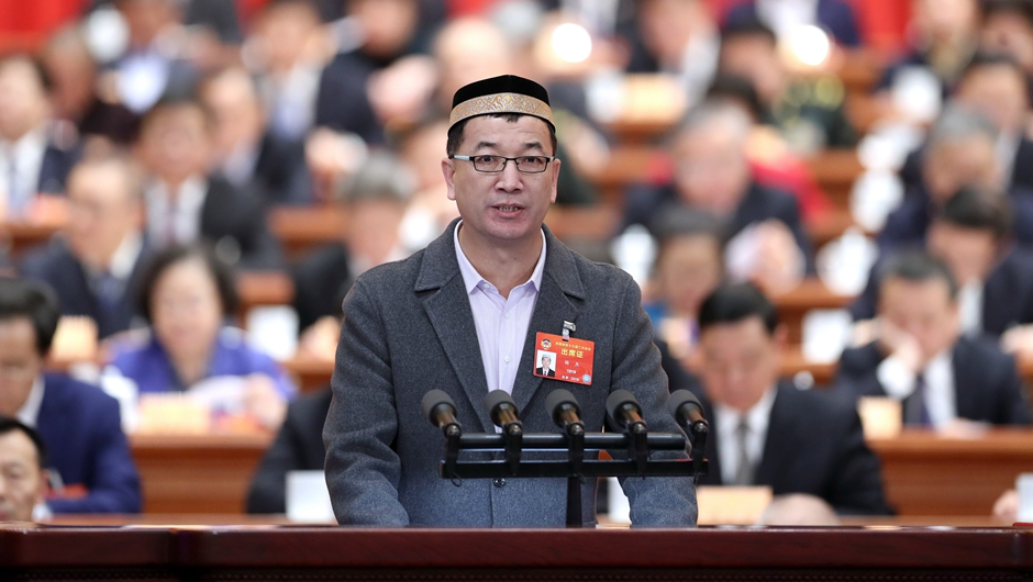 楊傑委員作大會發言