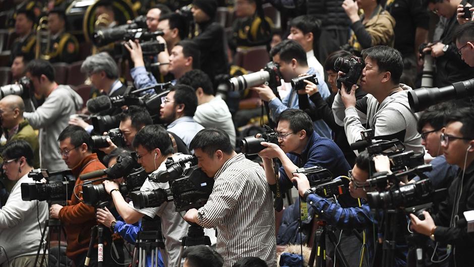 記者在會場拍攝