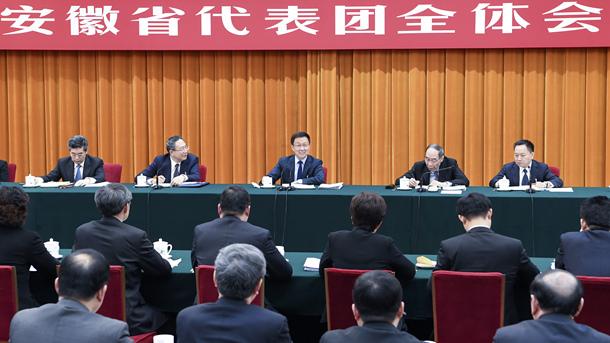 韩正参加安徽代表团审议
