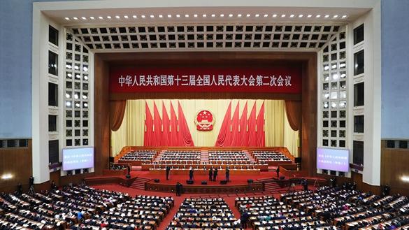 習近平出席十三屆全國人大二次會議閉幕會