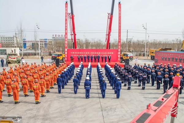 宁夏消防总队重型工程机械救援大队成立