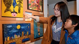第十届海峡两岸少儿美术大展在台北开幕 图