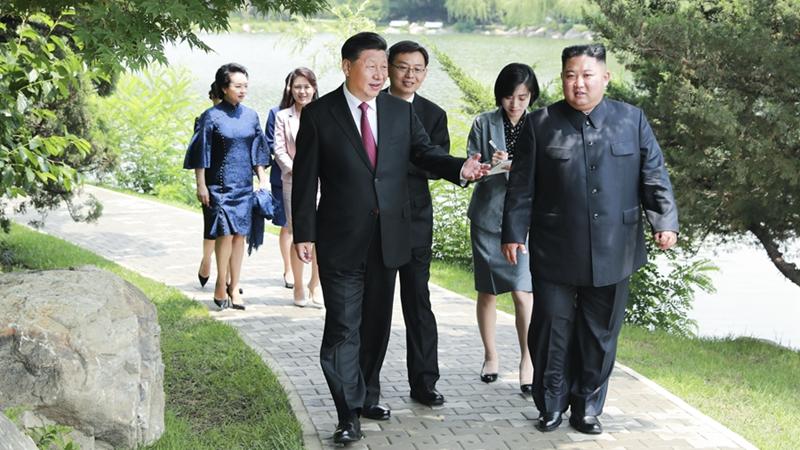 習近平會見朝鮮勞動黨委員長、國務委員會委員長金正恩
