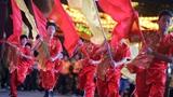 新加坡唐人街牛车水举行中秋亮灯仪式