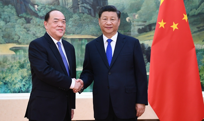 President Xi meets Macao's new chief executive
