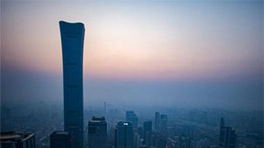 10月1日的北京晨曦