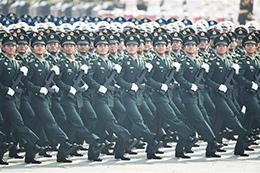 联勤保障部队方队:改革重塑后全新亮相