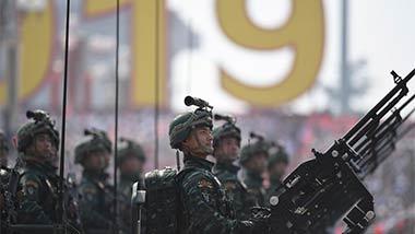 武警反恐突击方队