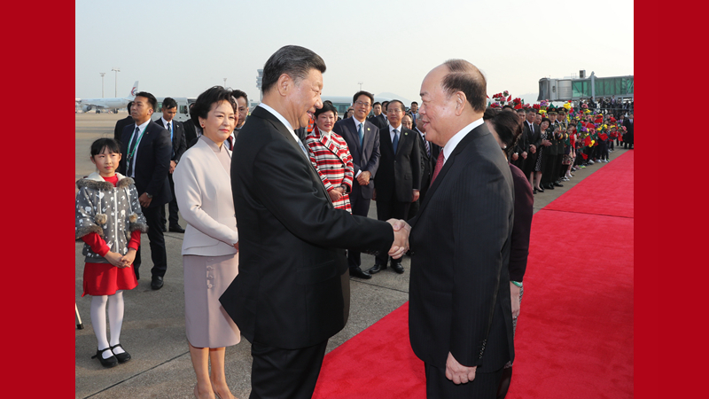 习近平离开澳门返回北京