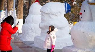 2020个雪人亮相冰城
