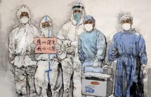 众志成城 抗击疫情——美术家在行动之中国画篇