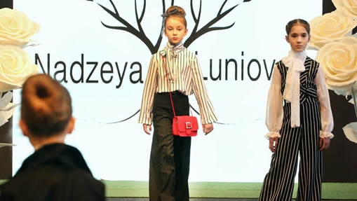 Children present creations during Spring Fashion Day 2020 event in Minsk