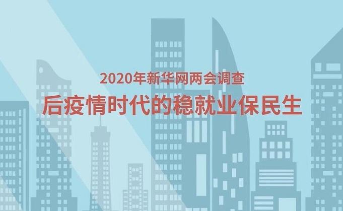 【2020年新华网两会调查】后疫情时代的稳就业保民生