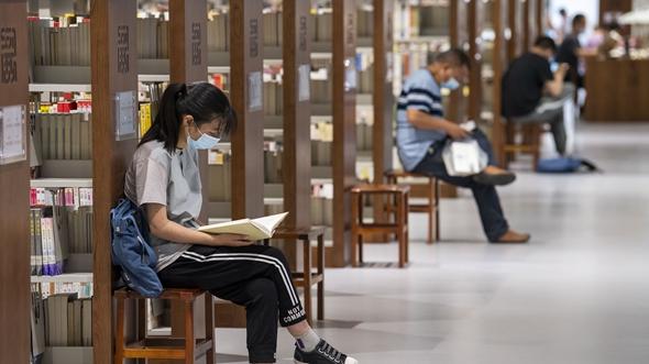 图书馆里过假期