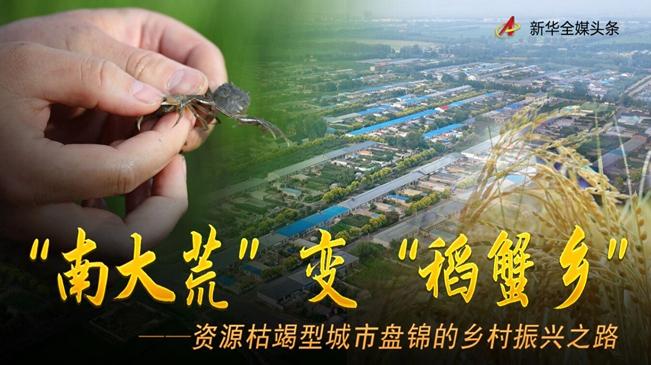 """""""南大荒""""变""""稻蟹乡""""――资源枯竭型城市盘锦的乡村振兴之路"""