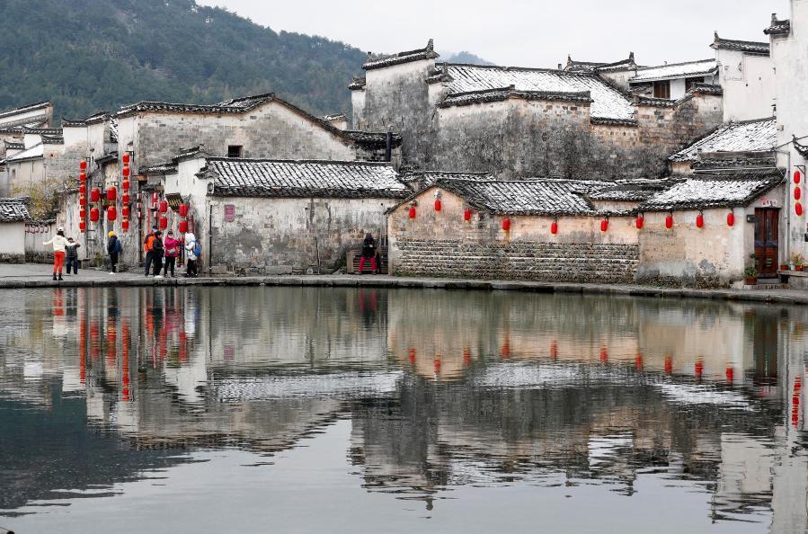 安徽黃山:雪潤宏村