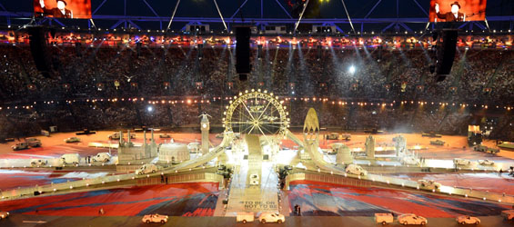 Closing ceremony of London 2012 Olympic Games begins