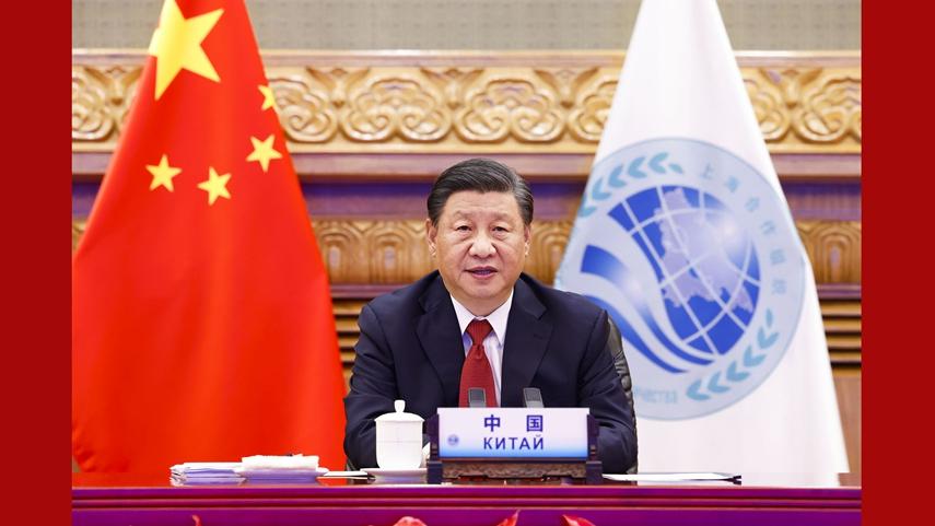 習近平出席上合組織成員國元首理事會第二十一次會議並發表重要講話