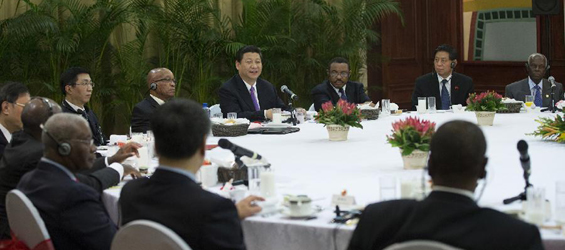 Xi Jinping participates breakfast meeting with African leaders